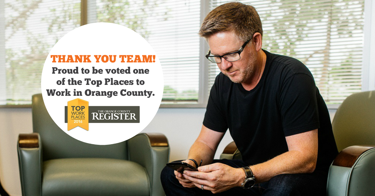 Tom Ferry Awarded as a Top Workplace in Orange County photo