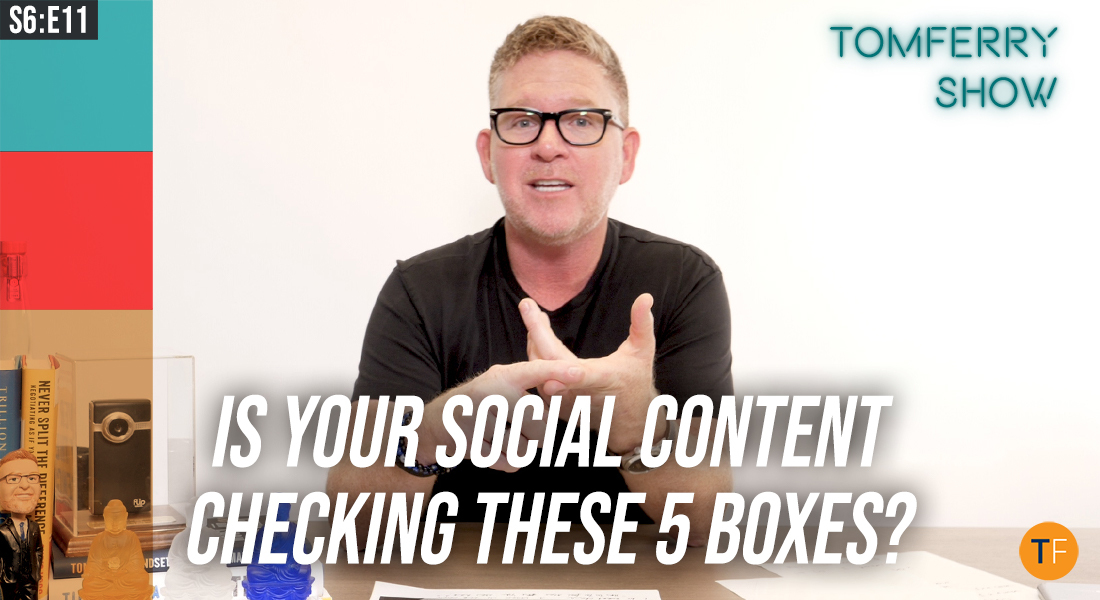 Social Media Checklist: 5 Content Types You Should be Creating to Dominate Your Local Market – #TomFerryShow