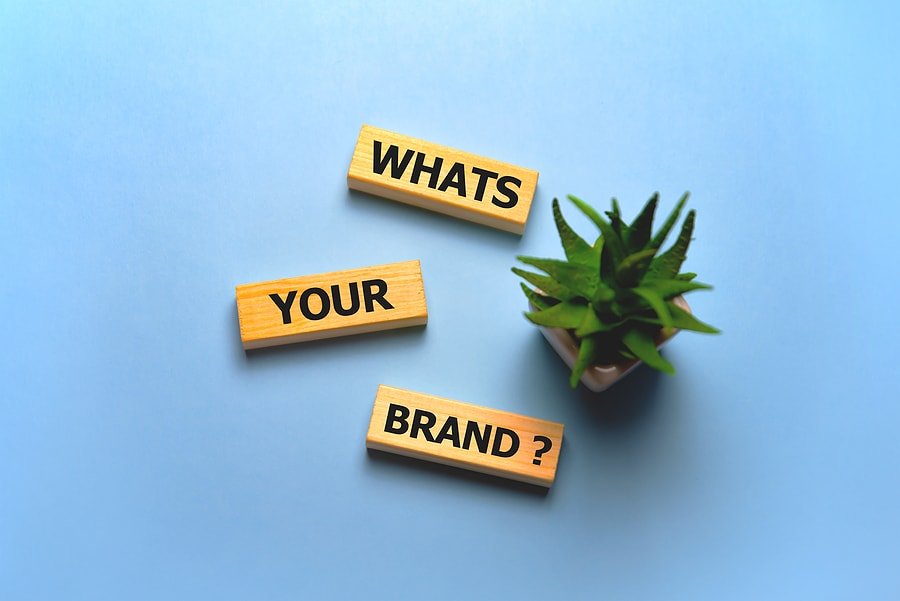 Whats Your Brand text on wooden blocks. Business concept.